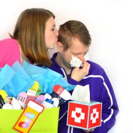 Kiss sickness away with a sick kit.