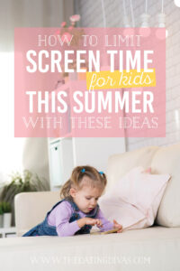 Totally using these ideas to help cut down my child's screen time! #screentime #kidssummeractivities #lessscreentime
