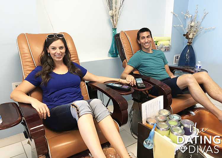 Pedicures to treat your spouse!
