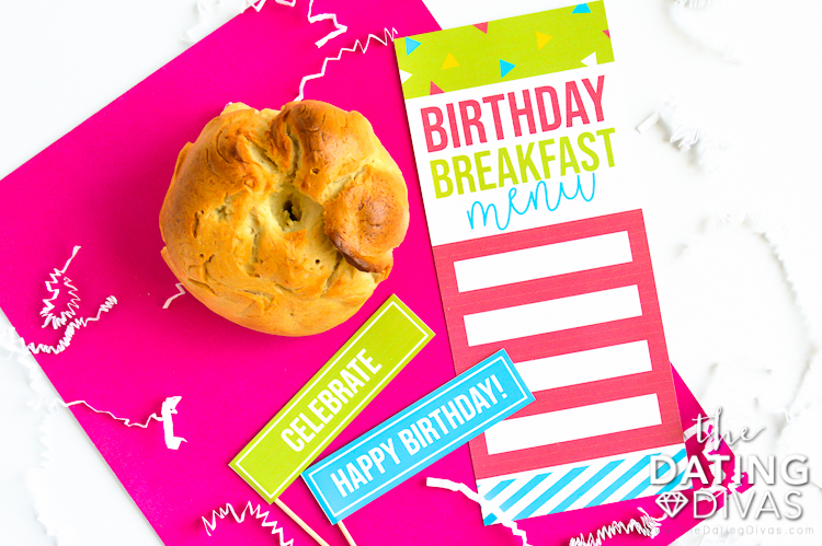 Birthday Breakfast Menu