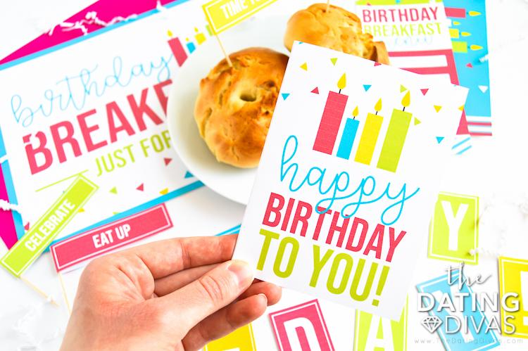 Birthday Breakfast Note
