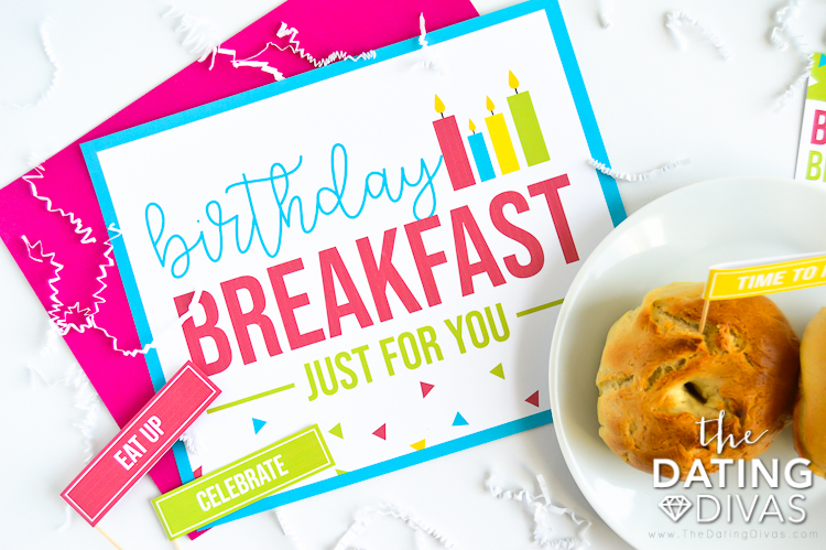Birthday Breakfast Placemat