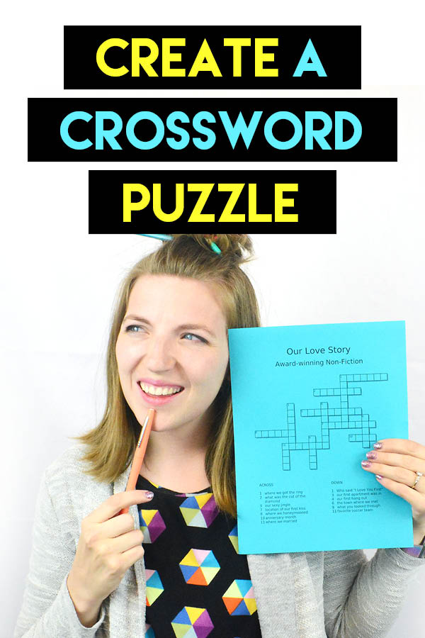 I can't WAIT to create a crossword puzzle for my sweetie! :) #puzzles #romance