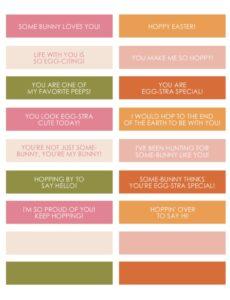 Easter Egg Notes