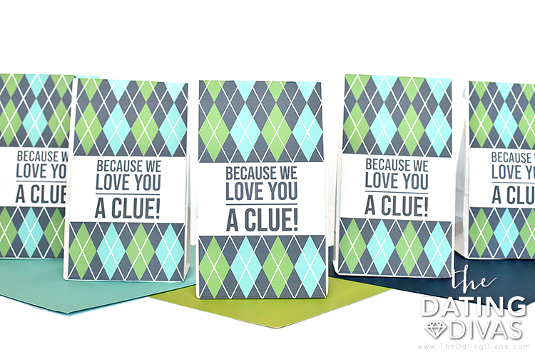 Father's Day Scavenger Hunt Clue Bags