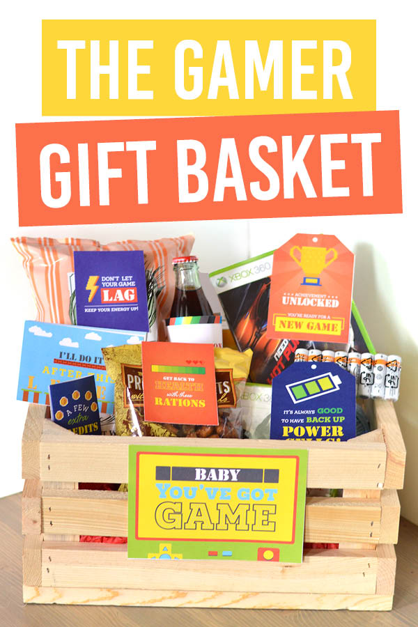 Can't wait to give this gamer gift basket to my gamer hubby. :) #gamerlove #gamergifts