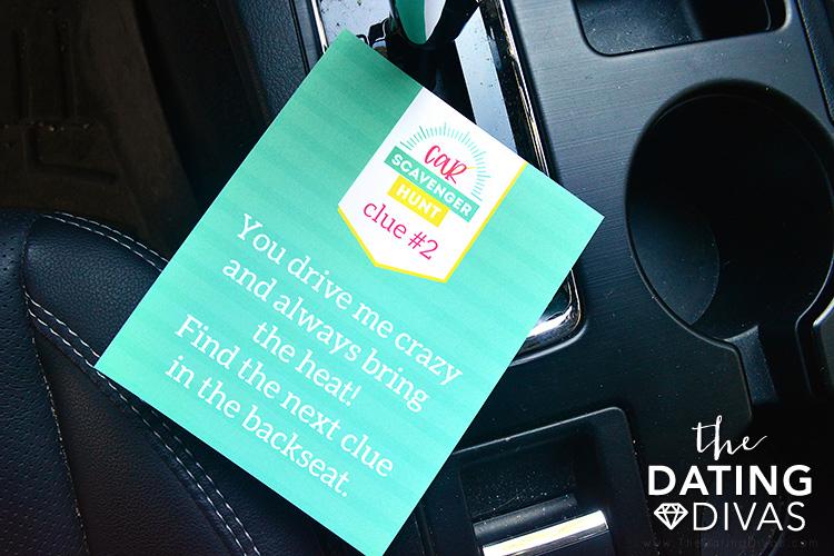 Car Scavenger Hunt Clue Cards