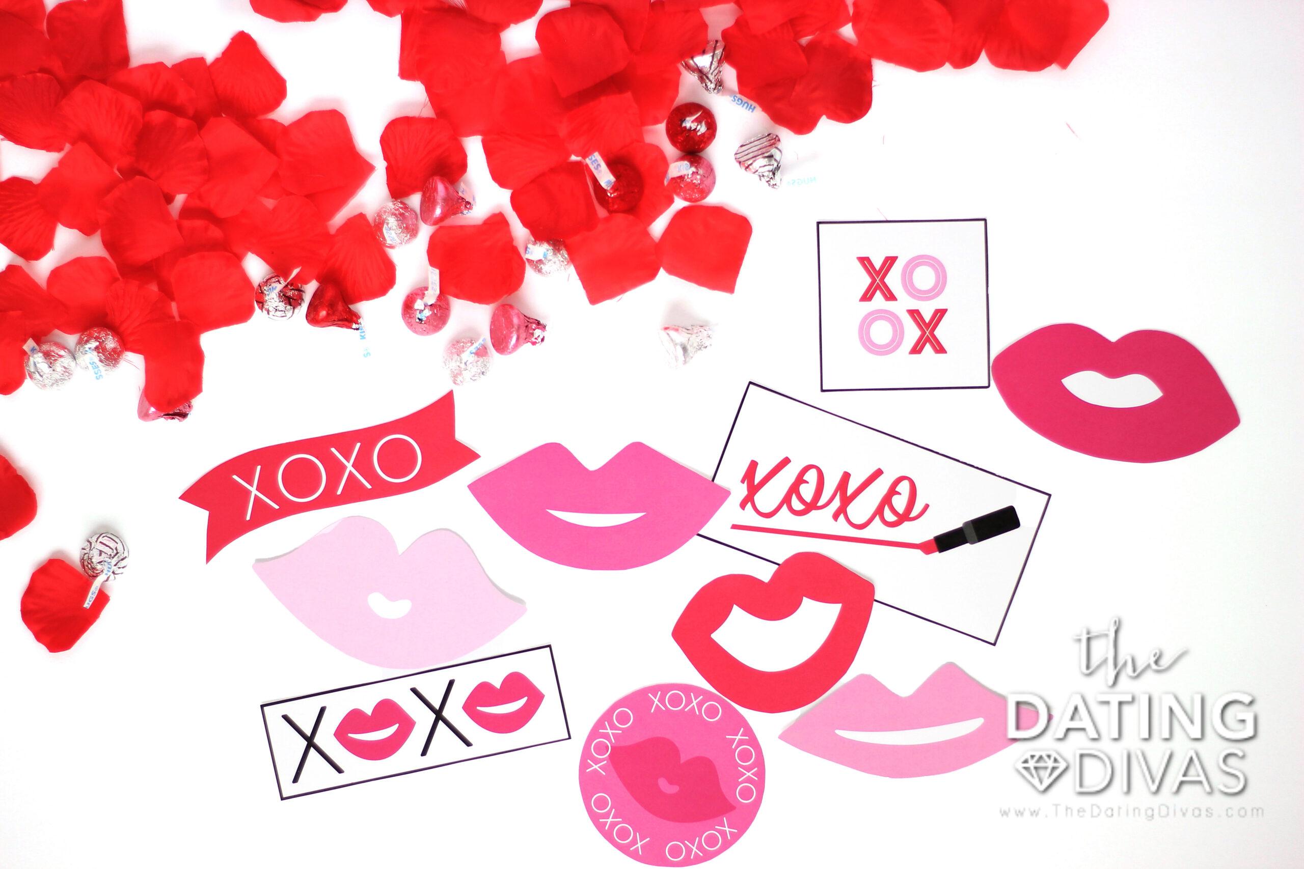 "Kiss Trail Printable Way to Say ""I Love You"""