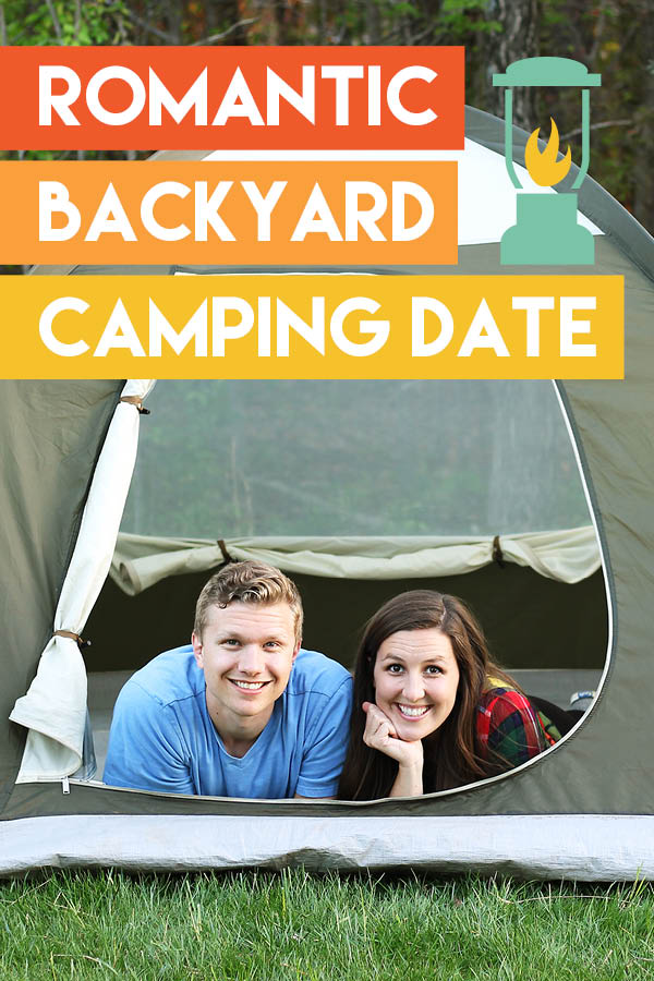 Backyard camping is so much fun!! I love the idea of making it into a date night! #backyardcamping #couplecamping