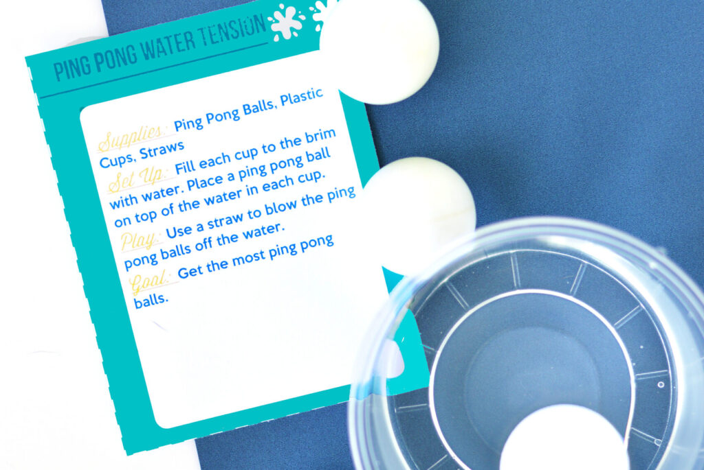 Ping pong water party games.
