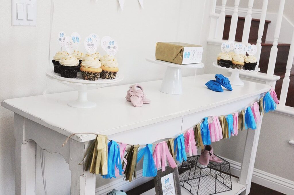 Moccasin Baby Gender Reveal Theme for a Party | The Dating Divas
