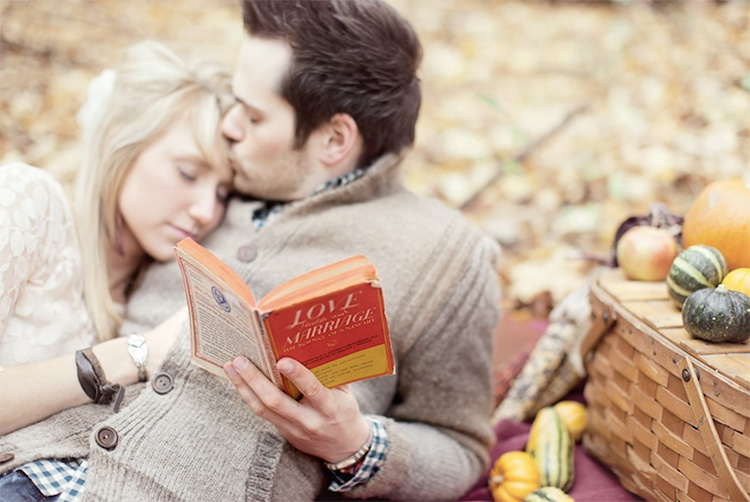 Use a book as a picture prop. | The Dating Divas