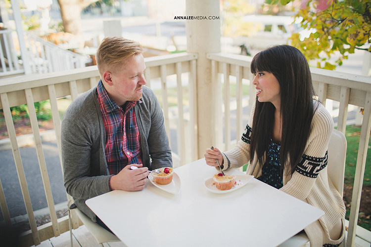 Enjoy a drink at a cafe for your couple pictures. | The Dating Divas