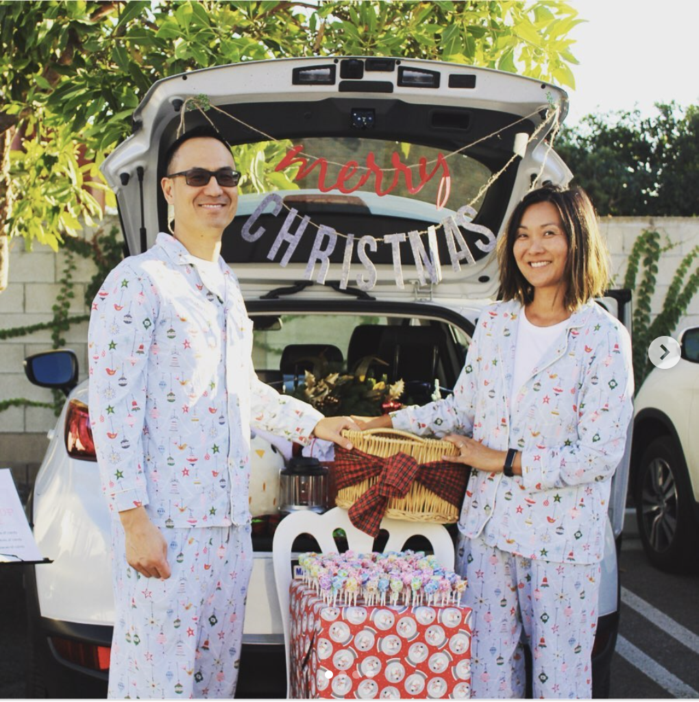 A trunk decorated with Christmas decorations for a Trunk or Treat Halloween event. | The Dating Divas