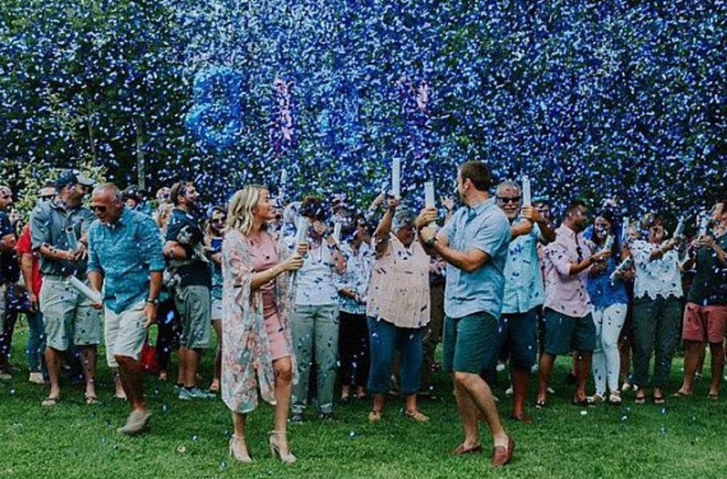 Gender Announcement Colorful Confetti Blast | The Dating Divas