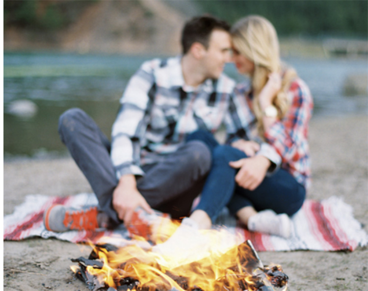 Romance flows in fireside couple pictures. | The Dating Divas