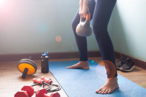 A woman doing kegel exercises to help strengthen her muscles for sex | The Dating Divas