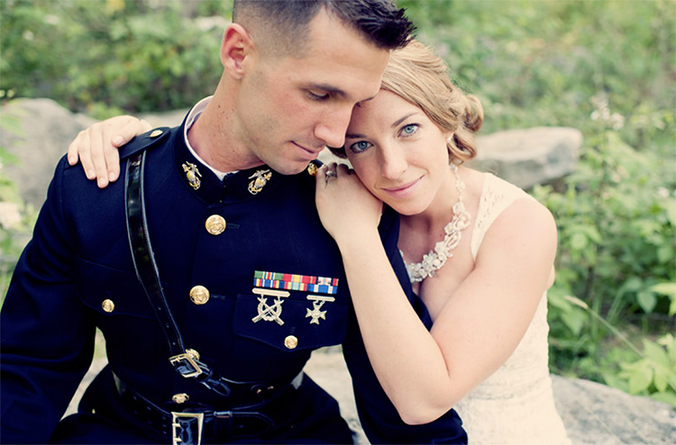 Honor your military heritage in your couple photoshoot. | The Dating Divas