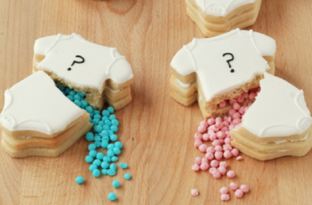 Onesie Filled Cookies Gender Reveal Ideas | The Dating Divas