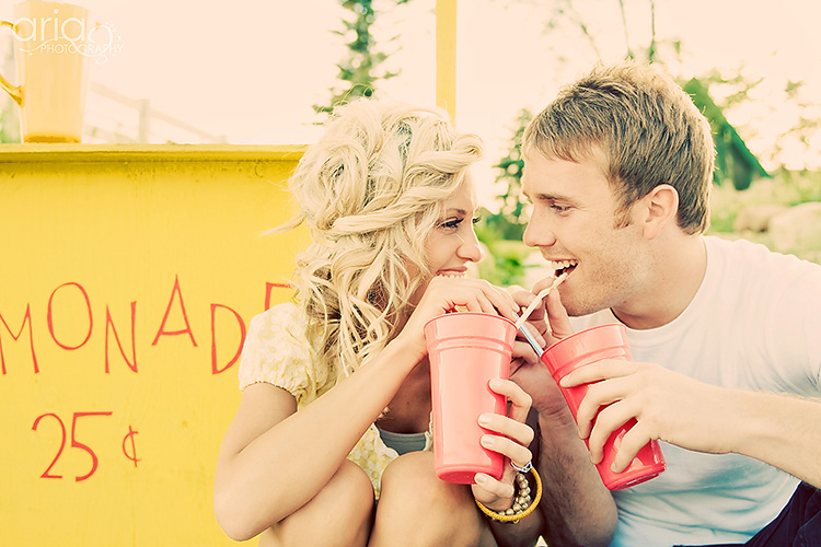 Sipping on drinks is a great couple picture idea. | The Dating Divas