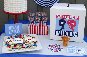 Election themed party to announce the baby's gender. | The Dating Divas