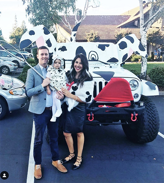 Trunk decorated as a large Dalmatian dog - a great trunk or treat idea | The Dating Divas