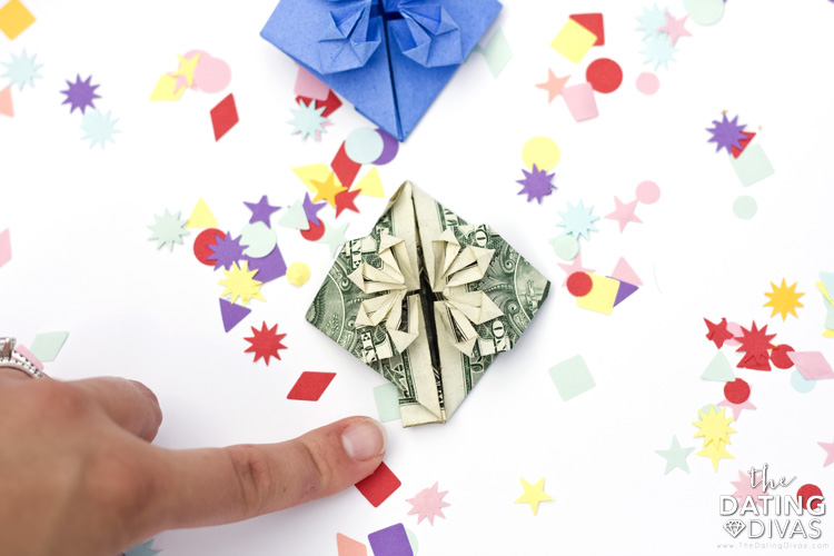 Origami out of a rectangle piece of paper or paper money. | The Dating Divas