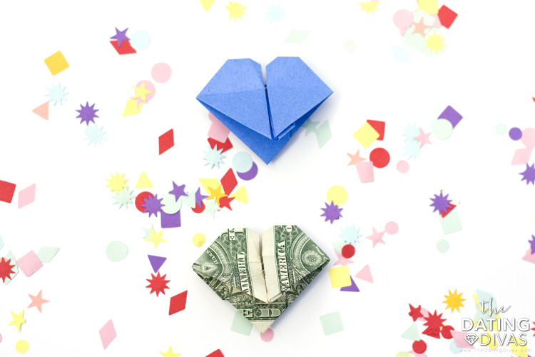 Easy ideas for how to make and origami heart out of paper | The Dating Divas
