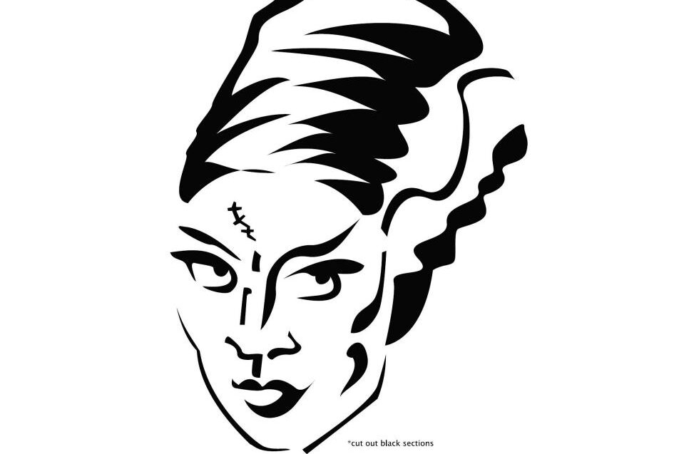 Lady monster creative pumpkin stencils and carving ideas. | The Dating Divas