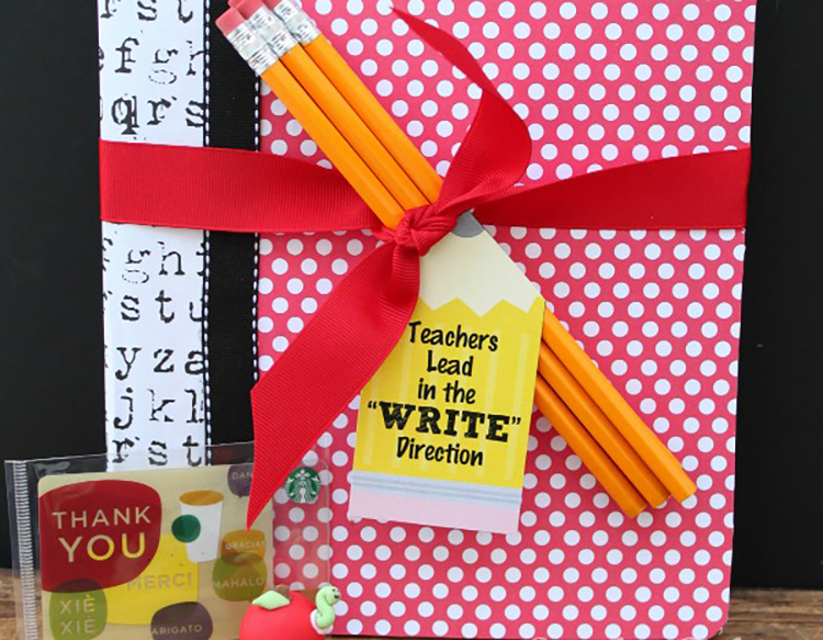 Spruce up a composition notebook with this teacher appreciation idea. | The Dating Divas