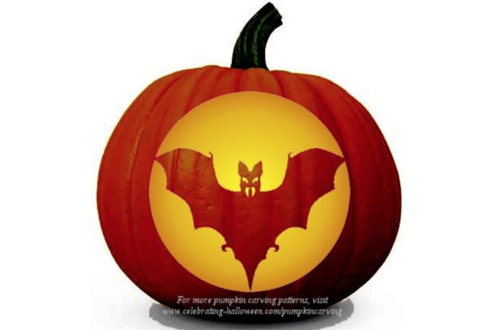 Bat halloween pumpkin carving stencils. | The Dating Divas
