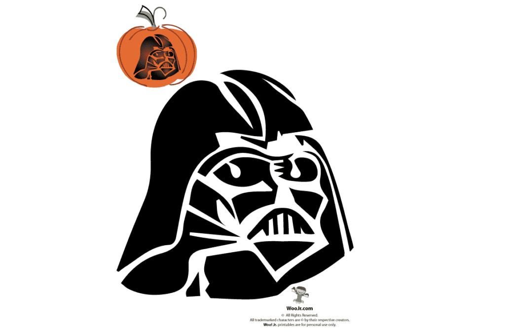 Darth Vader pumpkin stencil pattern for carving. | The Dating Divas