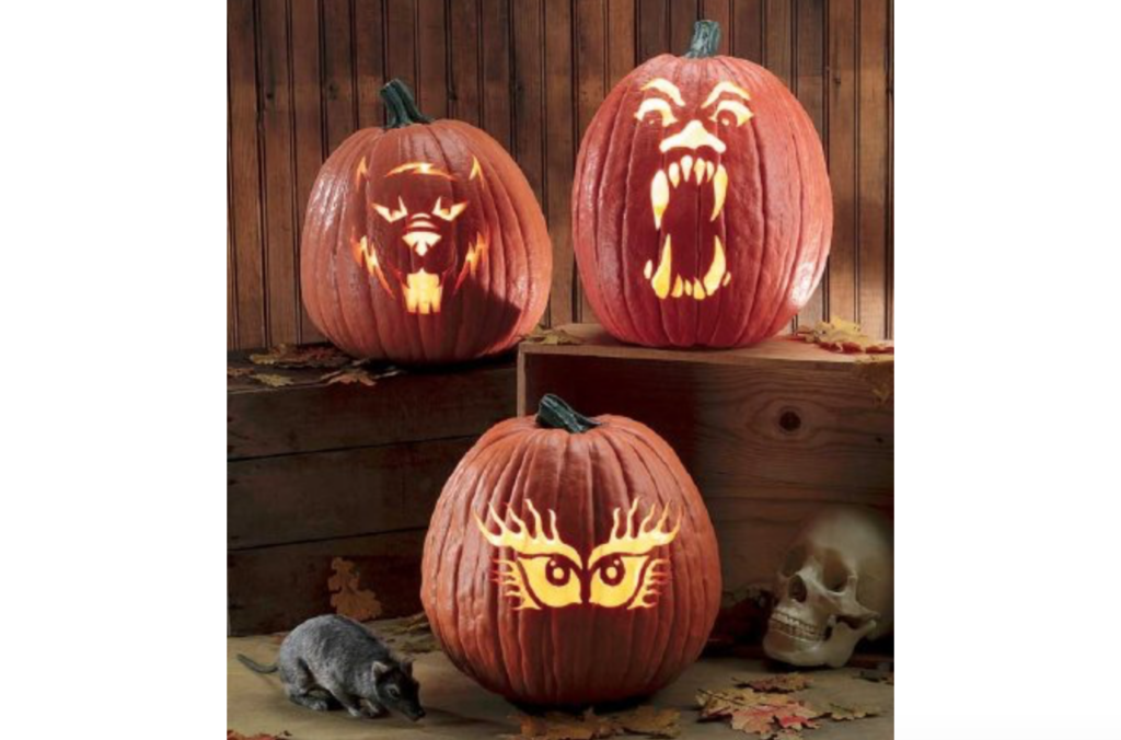 Classic, spooky pumpkin faces for carving. | The Dating Divas