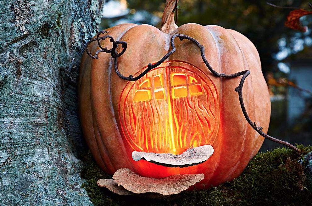 Fairy House easy pumpkin carving ideas. | The Dating Divas