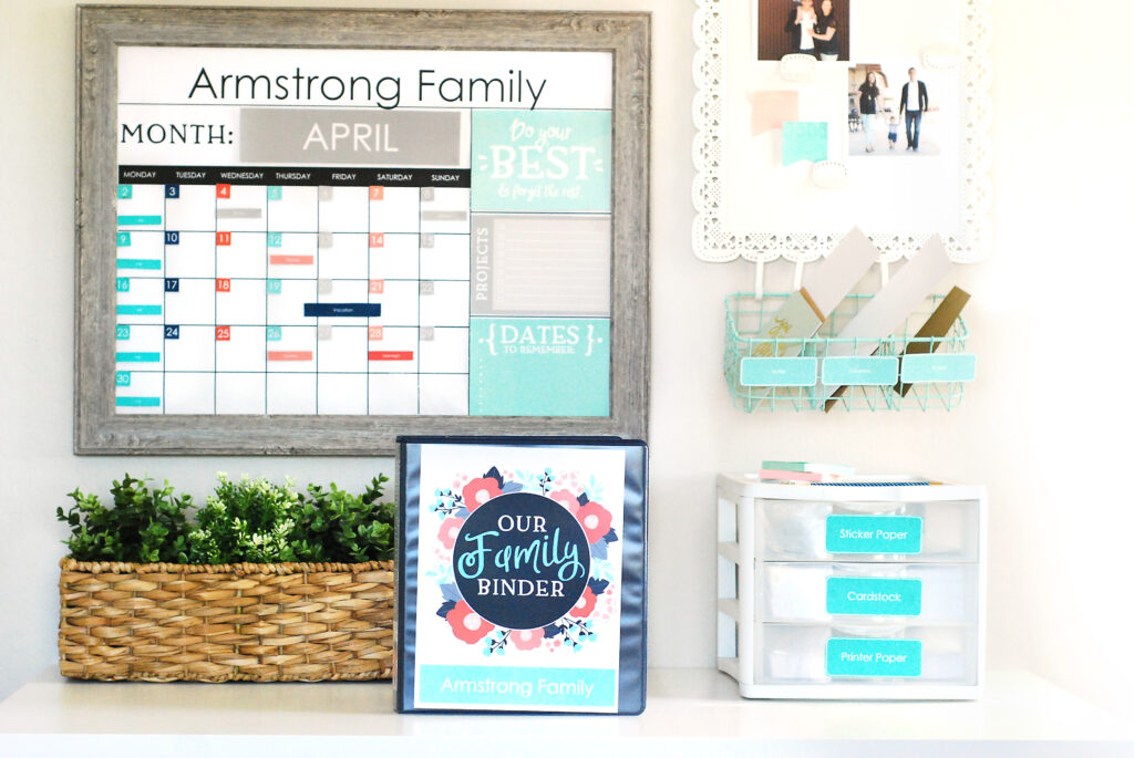Family organization kit to provide resources and tools to stay organized | The Dating Divas