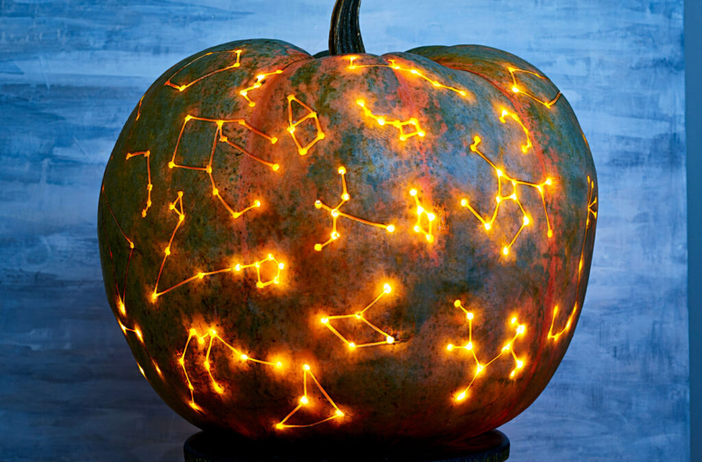 Creative pumpkin carving pattern ideas of space. | The Dating Divas