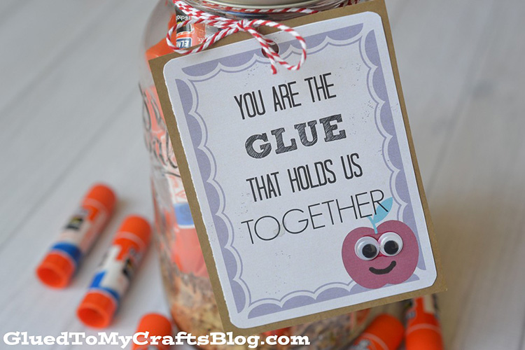 Glue is a great supply to give to your practical teacher this appreciation week. | The Dating Divas