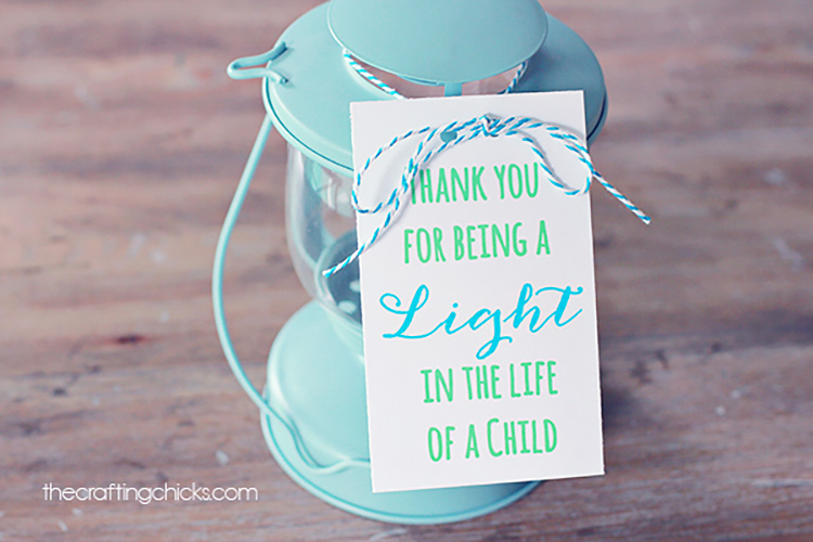 Thank a teacher for being a light in your child's life with light-themed teacher appreciation ideas. | The Dating Divas