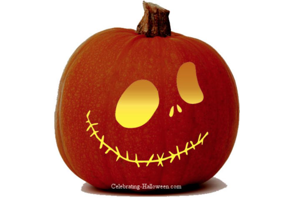 Pumpkin face carving pattern. | The Dating Divas
