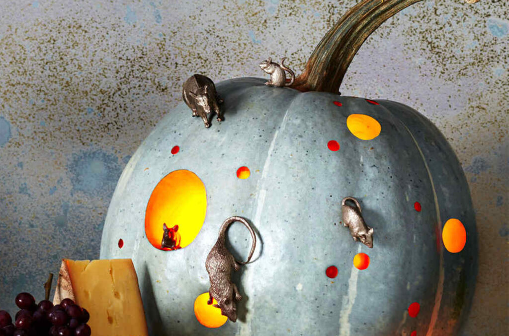 Mouse house, creative pumpkin ideas for Halloween. | The Dating Divas