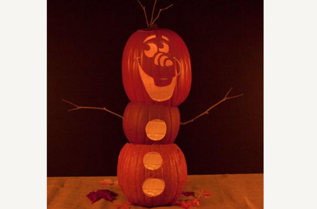 Olaf printable pumpkin pattern stencils. | The Dating Divas