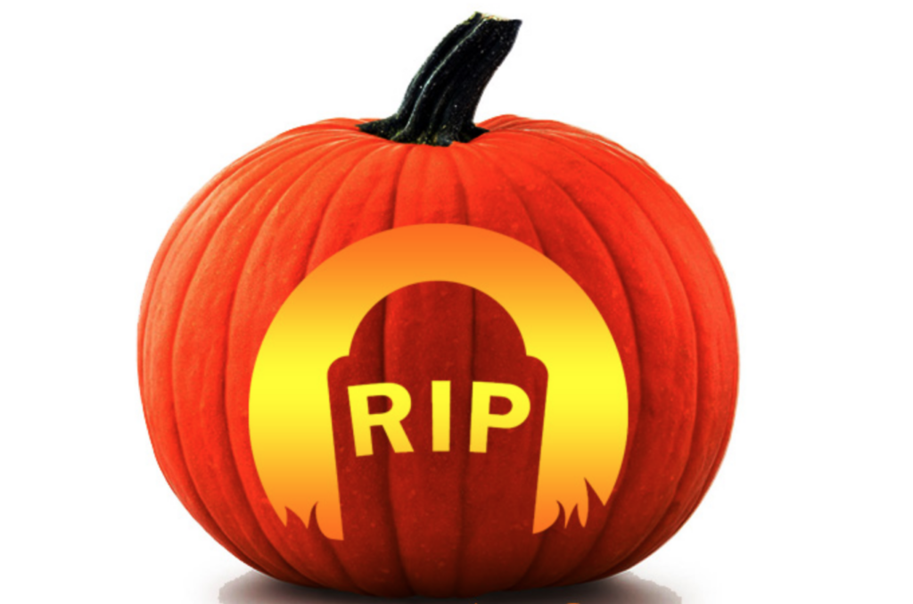 Gravestone RIP easy pumpkin carving ideas | The Dating Divas