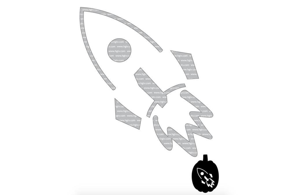 Easy rocket stencil for kids. | The Dating Divas