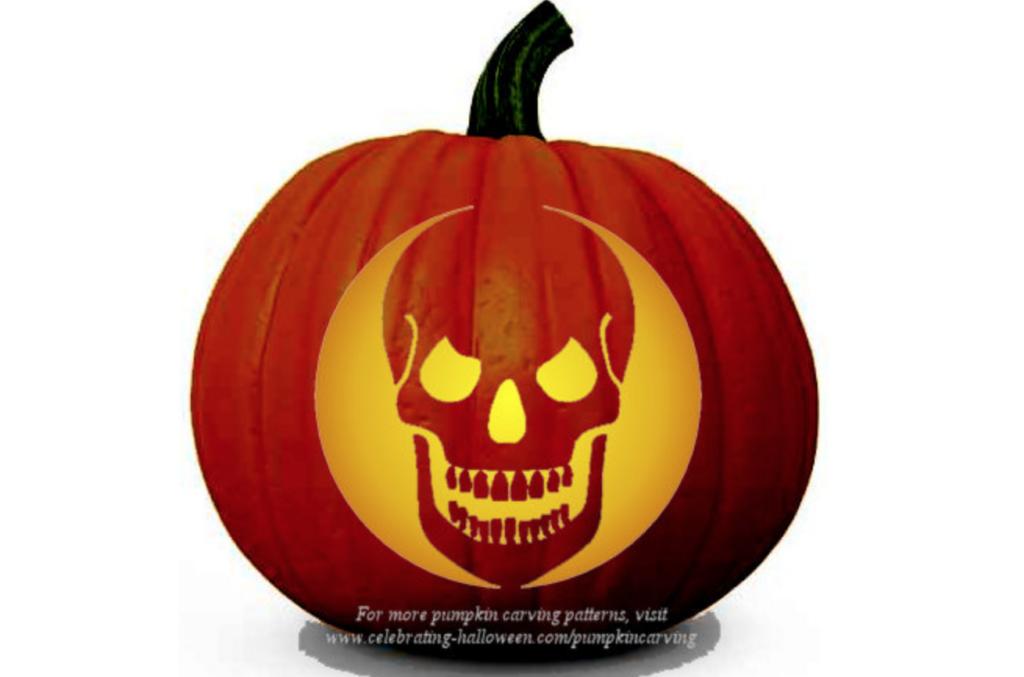 Skeleton pumpkin carving patterns for Halloween. | The Dating Divas