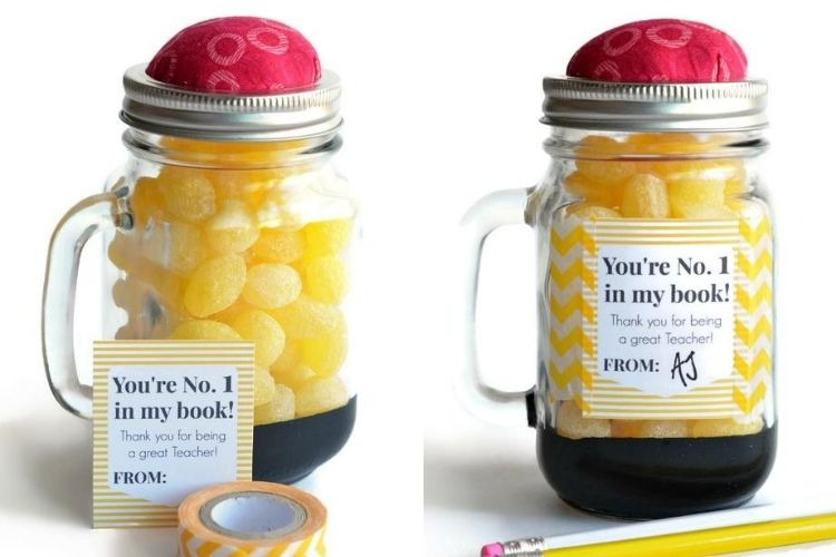DIY teacher appreciation ideas that also include a sweet treat are always a win. | The Dating Divas