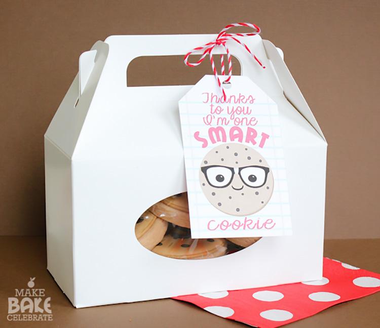 "Free printable ""smart cookie"" teacher appreciation idea. | The Dating Divas"