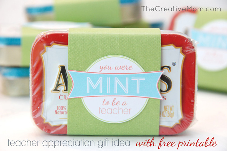 A simple and easy teacher appreciation gift with a tin of mints. | The Dating Divas