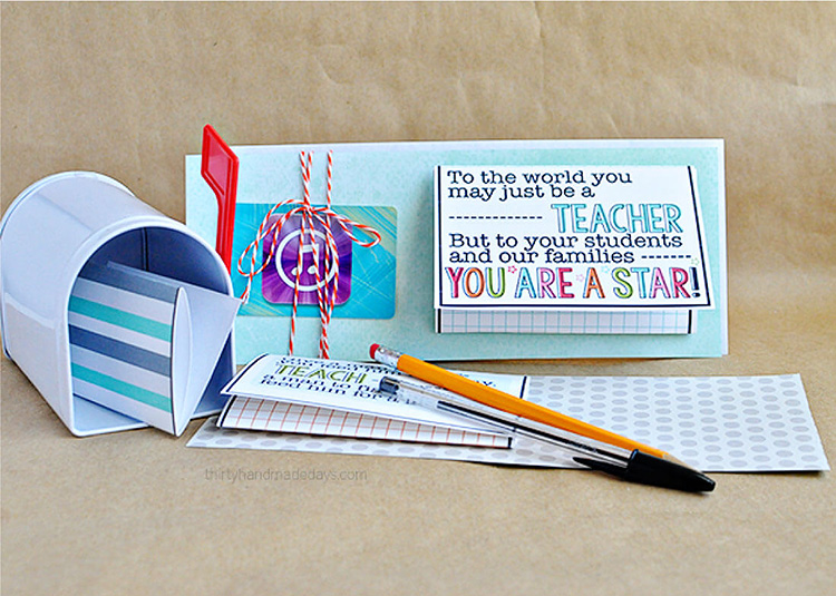 Another adorable idea for gift cards for the star teachers this Teacher Appreciation Week. | The Dating Divas
