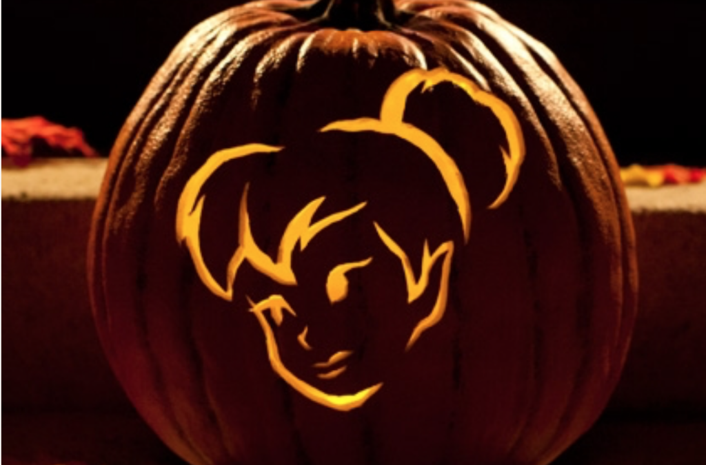 Tinkerbell Free Printable Pumpkin Carving Stencil. | The Dating Divas
