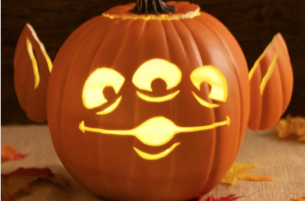 Carve a Toy Story alien into a pumpkin for Halloween. | The Dating Divas